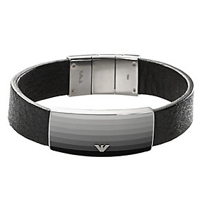 Emporio Armani Shadow men's stainless steel ID bracelet - Product number 2220687