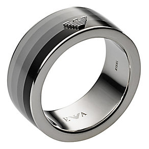 Emporio Armani Shadow stainless steel men's ring - Product number 2220695