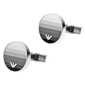 Emporio Armani Shadow stainless steel cufflinks - Product number 2220709