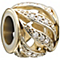 Chamilia Silver, Gold & Swarovski Crystal Bead - Product number 2220768