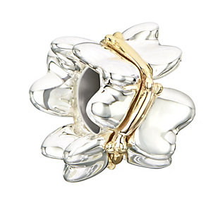Chamilia Sterling Silver & Yellow Gold Butterflies Bead - Product number 2220776