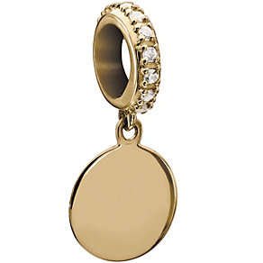 Chamilia Yellow Gold & Swarovski Zirconia Hanging Disc Bead - Product number 2220784