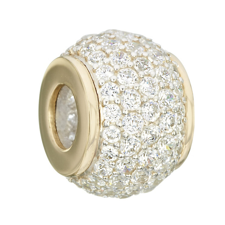 Chamilia Silver & Gold Pave Swarovski Crystal Bead - Product number 2220849
