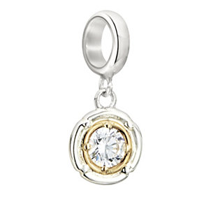 Chamilia Silver & Gold Swarovski Crystal Rosette Bead - Product number 2220865