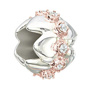 Chamilia Silver, Rose Gold Swarovski Crystal Tiara Bead - Product number 2220873