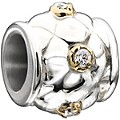 NEW! Chamilia Silver & Gold Textured Swarovski Elements Bead - Product number 2220881