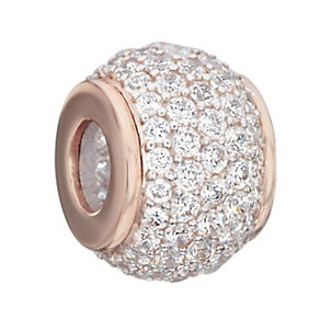 Chamilia Silver & Rose Gold Pave Swarovski Crystal Bead - Product number 2220903