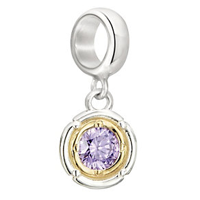 Chamilia Silver & Gold Lilac Rosette Bead - Product number 2220938