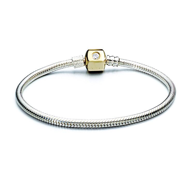 "Chamilia Silver & Gold Swarovski Zirconia 7.5"" Bracelet - Product number 2220954"