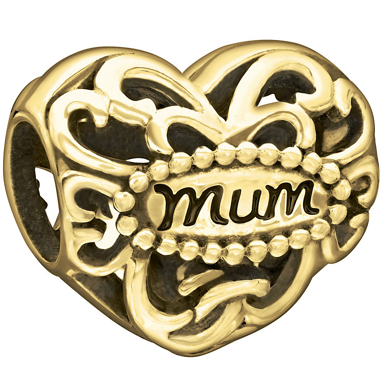 Chamilia 10ct Yellow Gold Filigree Mum Heart Bead - Product number 2220997