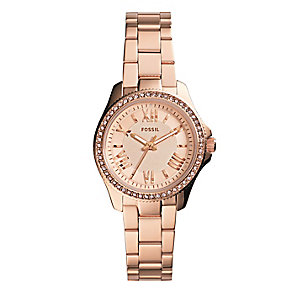 Fossil Cecile ladies' rose gold tone steel bracelet watch - Product number 2221268