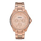 Fossil ladies' rose gold-plated chronograph bracelet watch - Product number 2221276