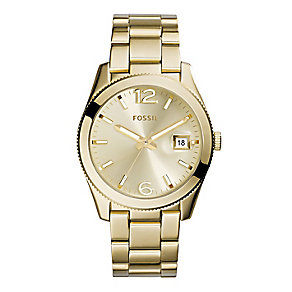 Fossil Perfect Boyfriend ladies' gold tonebracelet watch - Product number 2221438