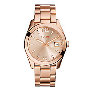 Fossil Perfect Boyfriend ladies' rose tone bracelet watch - Product number 2221446