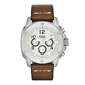 Fossil men's chronograph leather strap watch - Product number 2221489
