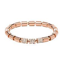 Fossil Barrel rose gold tone stretch link bracelet - Product number 2221543