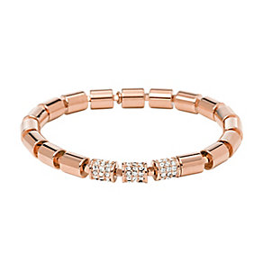 Fossil Barrel rose gold tone stretch link bracelet - Product number 2221543