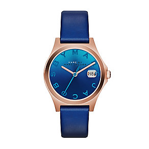 Marc by Marc Jacobs ladies' blue leather strap watch - Product number 2222736