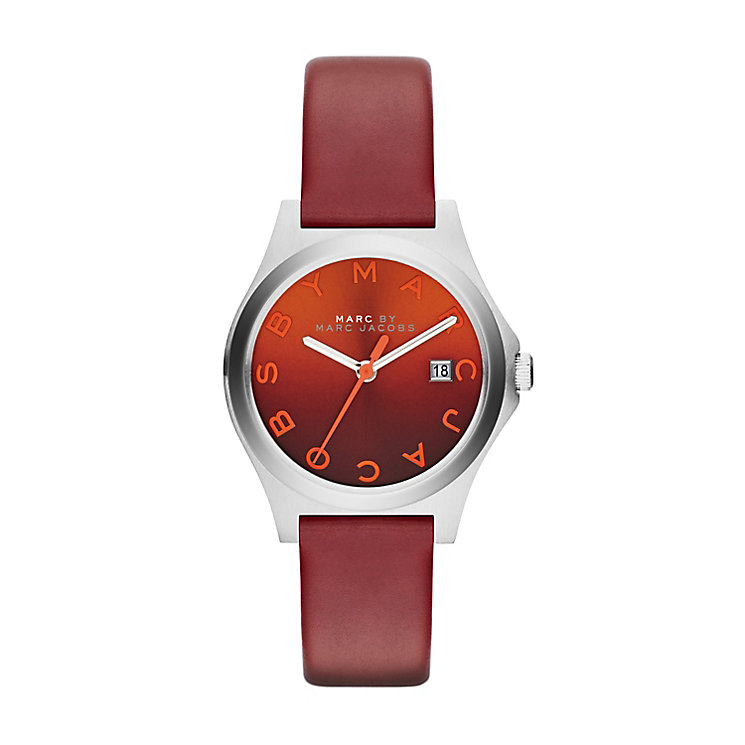 Marc Jacobs red leather strap watch - Product number 2222752