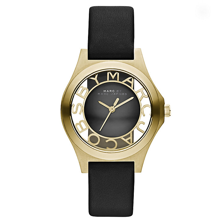 Marc Jacobs Ladies' Black Leather Strap Watch - Product number 2222760