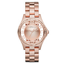Marc Jacobs Ladies' Rose Gold Tone Bracelet Watch - Product number 2222795