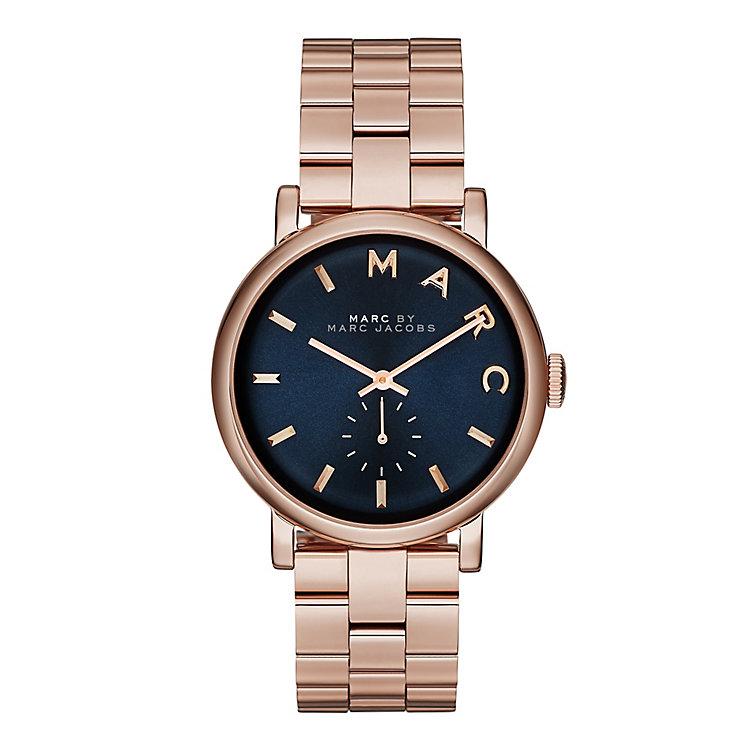 marc jacobs ladies rose gold tone bracelet watch ernest