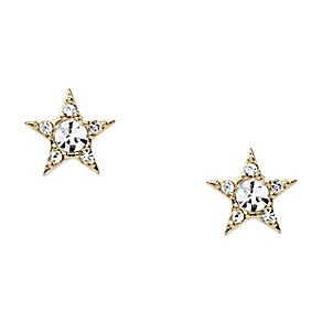 Fossil gold tone stone set star shaped stud earrings - Product number 2225298