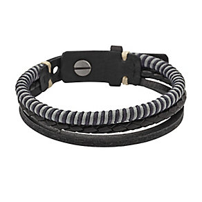 Fossil men's three leather cord bracelet - Product number 2225352
