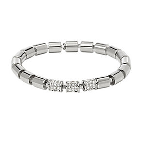 Fossil Barrel silver tone stretch link bracelet - Product number 2225387