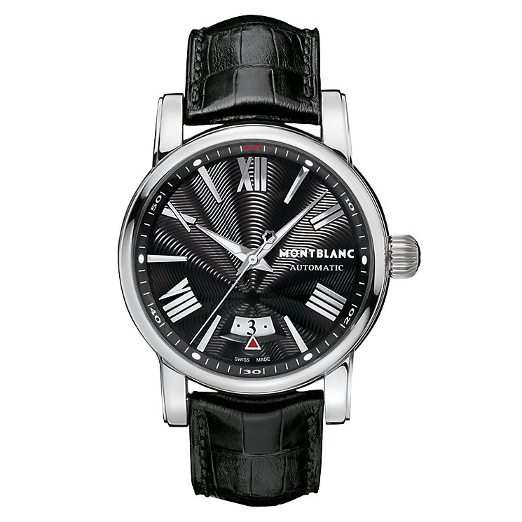 Montblanc Star men's black leather strap watch - Product number 2225395