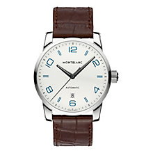 Montblanc Timewalker men's brown leather strap watch - Product number 2225409