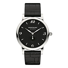 Montblanc Star men's black leather strap watch - Product number 2225441