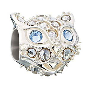 Chamilia sterling silver Swarovski crystal cat bead - Product number 2225670