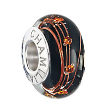 Chamilia sterling silver black & orange murano bead - Product number 2225794