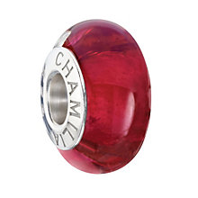 Chamilia Royals Fuschia sterling silver & murano glass bead - Product number 2225905