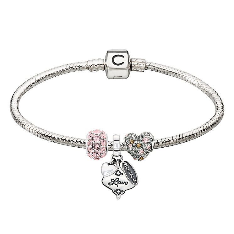 Chamilia silver bracelet & three love bead starter set - Product number 2227088