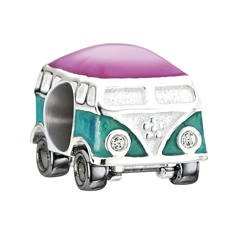 Chamilia Sterling Silver & Enamel Camper Van Bead - Product number 2227169