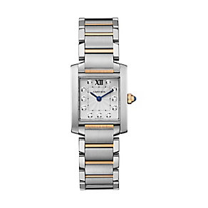 Cartier Tank Francaise ladies' two colour bracelet watch - Product number 2228033