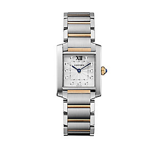 Cartier Francaise ladies' two colour diamond bracelet watch - Product number 2228041