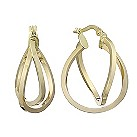 9ct yellow gold 20mm double creole hoop earrings - Product number 2231581