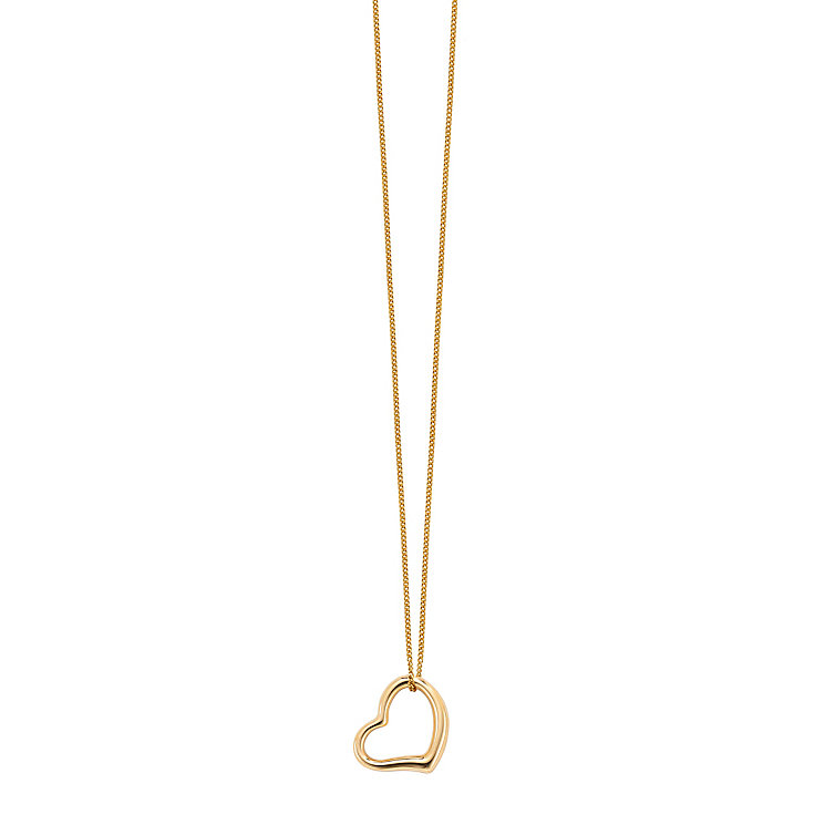 9ct yellow gold angle heart pendant - Product number 2231743