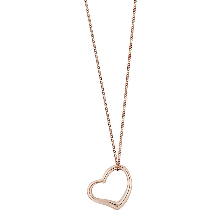 9ct rose gold heart pendant - Product number 2231751
