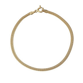 9ct yellow gold flat chain bracelet - Product number 2231875