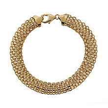 9ct yellow gold wide bracelet - Product number 2231905
