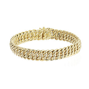 9ct yellow gold heavy luxe bracelet - Product number 2231913