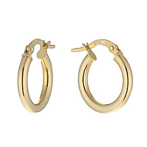 9ct yellow gold 10mm round creole earrings - Product number 2231948
