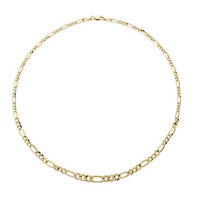 9ct yellow gold figaro necklet - Product number 2232006