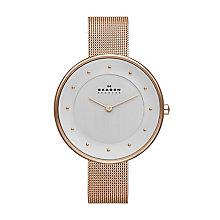 Skagen Gitten Ladies' Rose Gold Tone Mesh Bracelet Watch - Product number 2232022