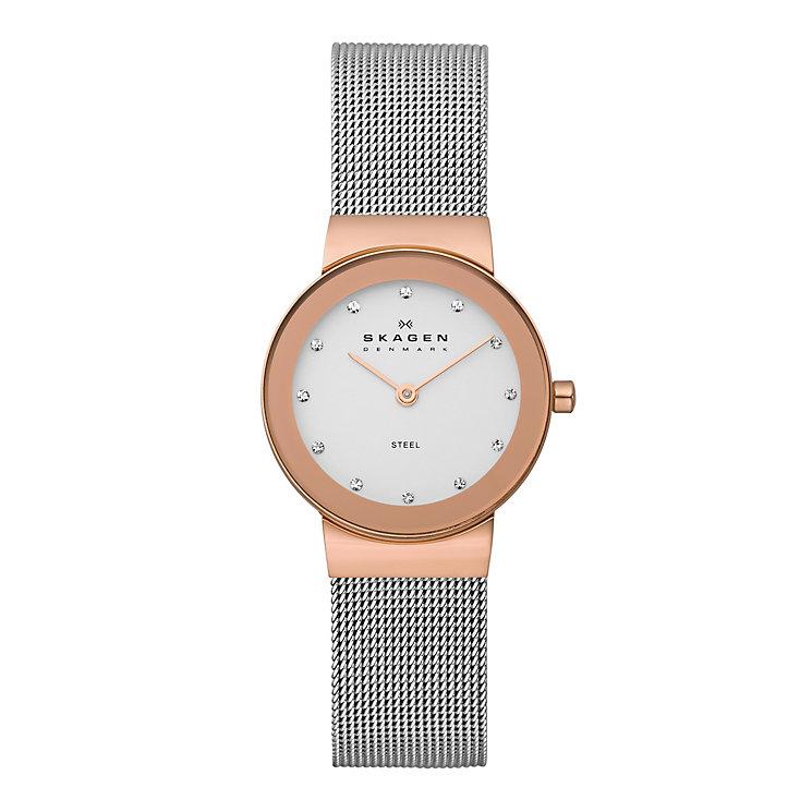 Skagen Freja Ladies' Two Colour Mesh Bracelet Watch - Product number 2232057