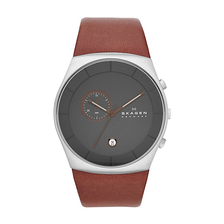 Skagen Havene Men's Stainless Steel Leather Strap Watch - Product number 2232073